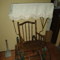 Antigüedades: CARRO DE NIÑO TIRADO POR PERROS S XIX. Lote 45731750