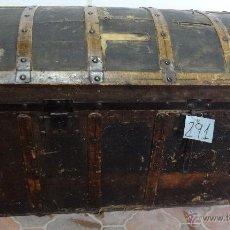 Antigüedades: BAÚL SIGLO XX EN MADERA DE PINO - 291. Lote 116101686