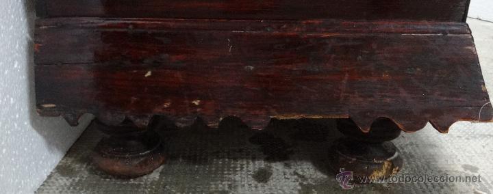 Antigüedades: ARCA VASCA TALLADA MADERA DE CASTAÑO SIGLOXVIII-XIX, 6000-349 - Foto 2 - 45732415