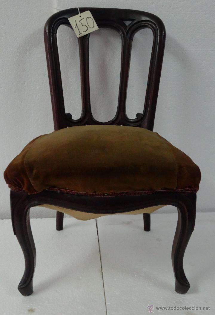 SILLA EN MADERA DE CEREZO- 150 (Antigüedades - Muebles Antiguos - Sillas Antiguas)
