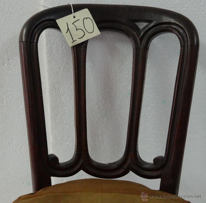 Antigüedades: SILLA EN MADERA DE CEREZO- 150 - Foto 4 - 45732852