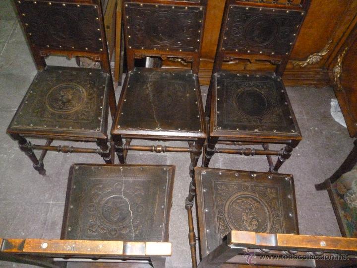 CINCO SILLAS FINALES DEL XIX (Antigüedades - Muebles Antiguos - Sillas Antiguas)
