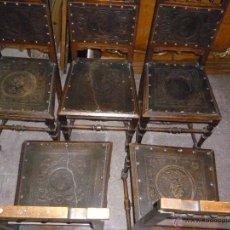 Antigüedades: CINCO SILLAS FINALES DEL XIX. Lote 45736015