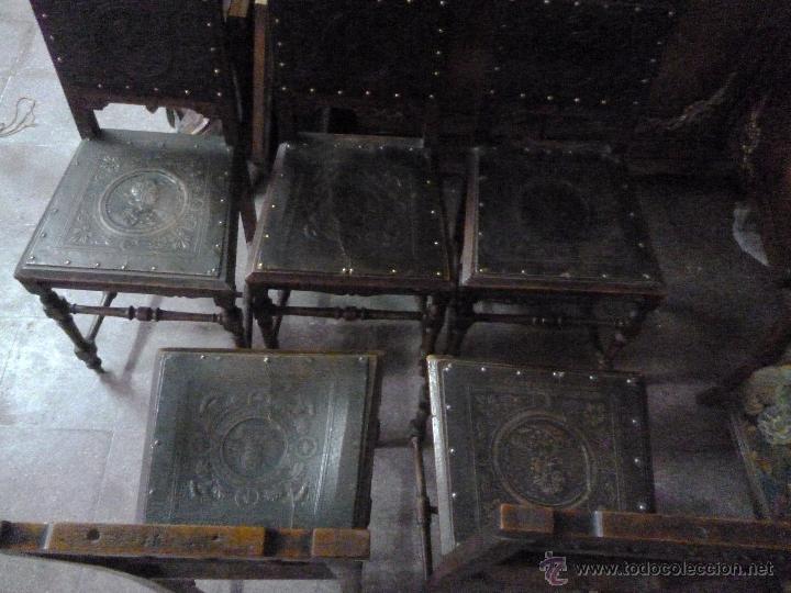 Antigüedades: CINCO SILLAS FINALES DEL XIX - Foto 2 - 45736015