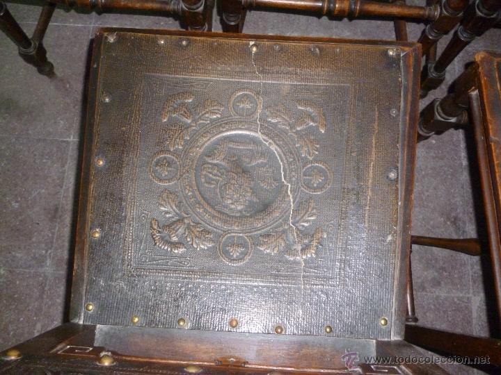Antigüedades: CINCO SILLAS FINALES DEL XIX - Foto 3 - 45736015
