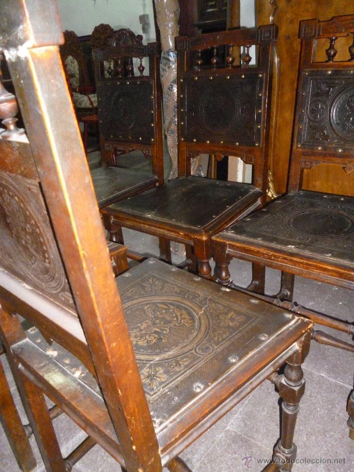Antigüedades: CINCO SILLAS FINALES DEL XIX - Foto 4 - 45736015