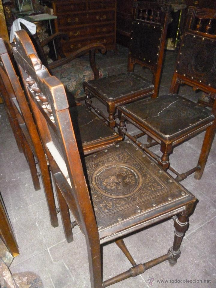 Antigüedades: CINCO SILLAS FINALES DEL XIX - Foto 5 - 45736015