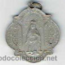 Antigüedades: MEDALLA ANTIGUA MIDE 3 CM SIN ANILLA . Lote 45736647