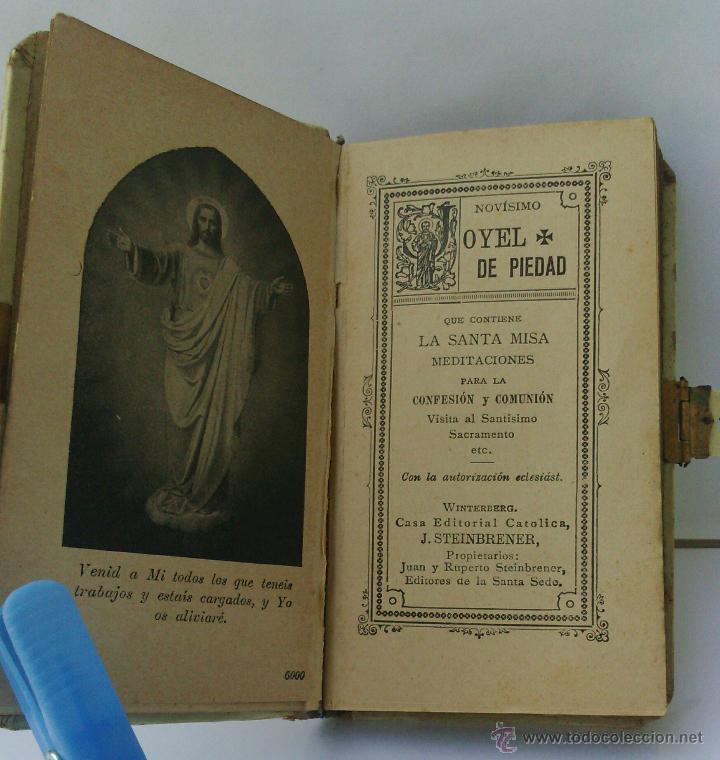 Antigüedades: ANTIGUO LIBRO LITÚRGICO DE SANTA SEDE - OYEL DE PIEDAD - Hermanos Steinbrener - Winterberg - Foto 2 - 45740925
