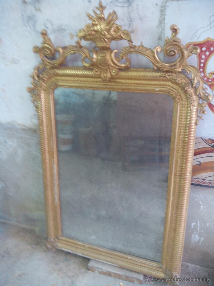 Antigüedades: espejo antiguo - Foto 2 - 45753573