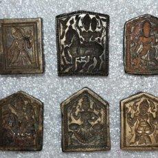 Antigüedades: ARQUEOLOGÍA. LOTE DE 6 TAMPONES O SELLOS A IDENTIFICAR. MUY MUY ANTIGUOS. EN BRONCE. Lote 45756528