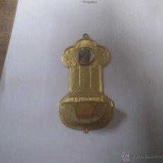 Antigüedades: BENDITERA EN METAL DORADO. Lote 45756678