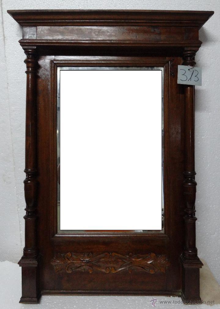 Espejo europeo en madera de casta o siglo xx 3 comprar for Disenos de espejos tallados en madera