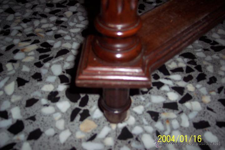 Antigüedades: MAGNIFICA MESA ALFONSINA EN NOGAL, EXTENSIBLE - Foto 4 - 57385060