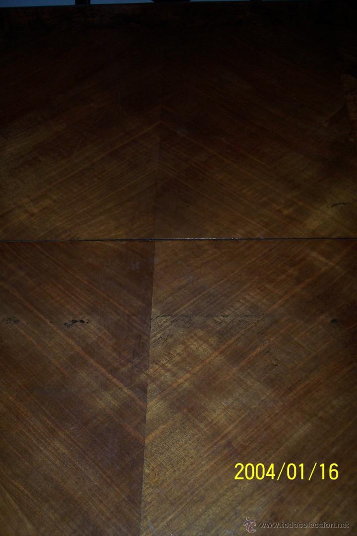 Antigüedades: MAGNIFICA MESA ALFONSINA EN NOGAL, EXTENSIBLE - Foto 5 - 57385060
