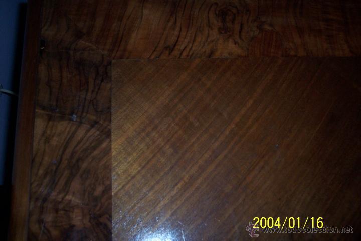 Antigüedades: MAGNIFICA MESA ALFONSINA EN NOGAL, EXTENSIBLE - Foto 8 - 57385060