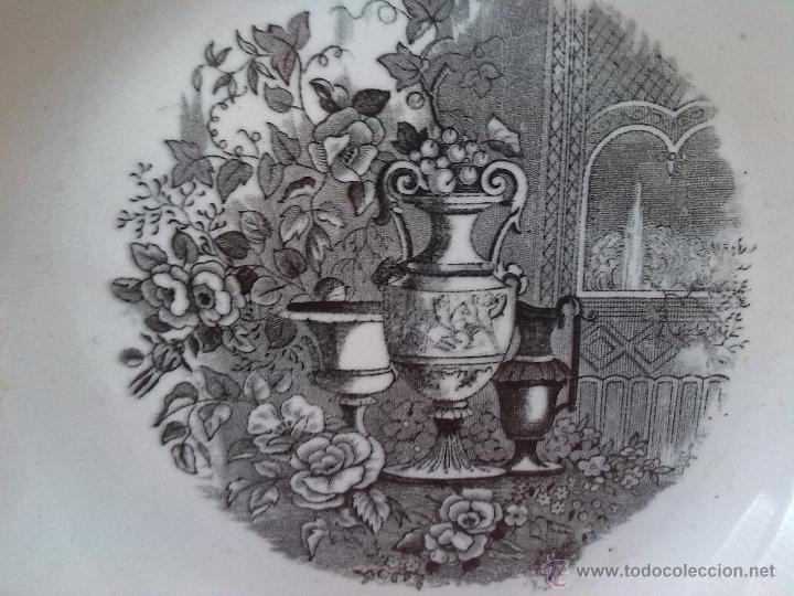 Antigüedades: antiguo plato de cartagena, jarrones europeos, sello tinta e inciso. - Foto 2 - 45764379