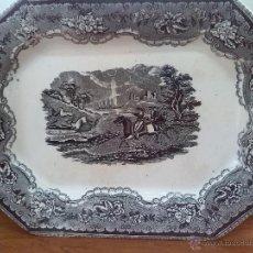 Antigüedades: ANTIGUA FUENTE DE CARTAGENA, SELLO INCISO Y TINTA, ESCENAS CINEGETICAS. Lote 45764936
