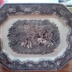 Antigüedades: ANTIGUA FUENTE DE CARTAGENA, SELLO INCISO Y TINTA, ESCENAS CINEGETICAS. Lote 45764997