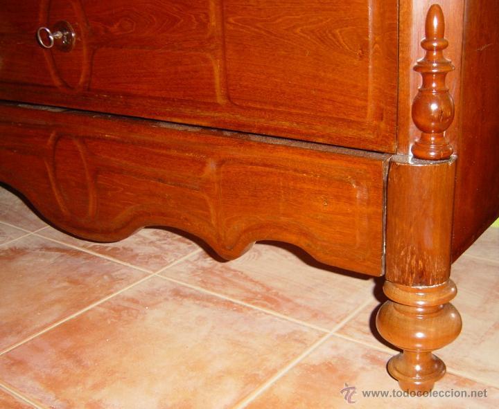 Antigüedades: Cómoda de caoba isabelina, estilo de la ditada, siglo XIX - Foto 3 - 45772219
