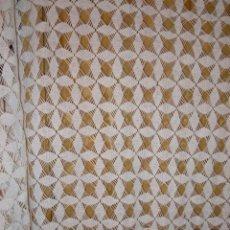 Antigüedades: CORTINA GANCHILLO DE ALGODON DE 2,92X2,10 M. AÑOS 40. Lote 45782786