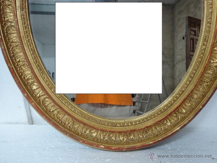 Antigüedades: ESPEJO MADERA DORADO Y ESTUCADO PRINCIPIOS SIGLO XX, 2000 - 354 - Foto 2 - 45783577