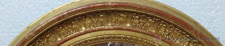 Antigüedades: ESPEJO MADERA DORADO Y ESTUCADO PRINCIPIOS SIGLO XX, 2000 - 354 - Foto 4 - 45783577
