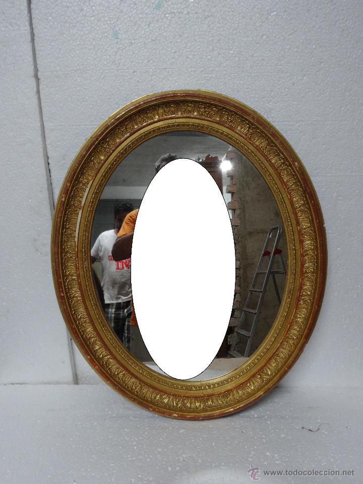 Antigüedades: ESPEJO MADERA DORADO Y ESTUCADO PRINCIPIOS SIGLO XX, 2000 - 354 - Foto 5 - 45783577
