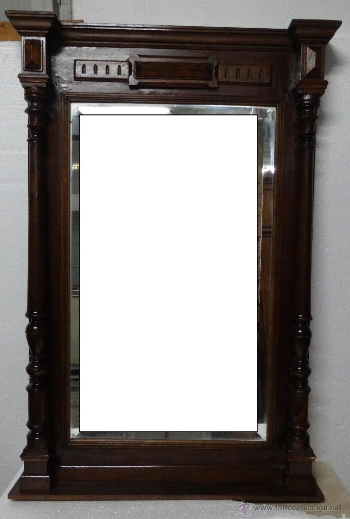 ESPEJO EUROPEO EN MADERA DE CAOBA SIGLO XX, 6000 - 612 (Antigüedades - Muebles Antiguos - Espejos Antiguos)