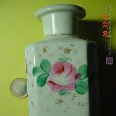 Antigüedades: 4289 PRECIOSO FRASCO TOCADOR-PERFUME EN PORCELANA PINTADA SIGLO XIX - COSAS&CURIOSAS. Lote 27588714