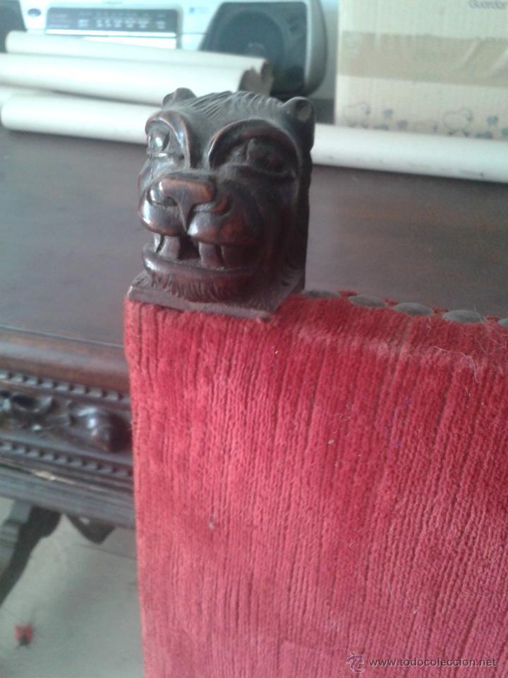 Antigüedades: ANTIGUA SILLA ESTILO IMPERIO CON BRAZOS - Foto 4 - 45705753