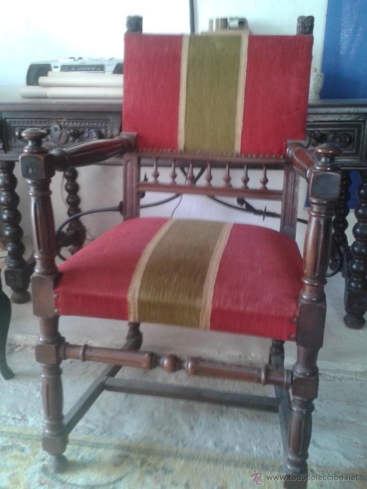 Antigüedades: ANTIGUA SILLA ESTILO IMPERIO CON BRAZOS - Foto 6 - 45705753