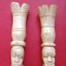 Antigüedades: FIGURAS DE HUESO. Lote 45794709