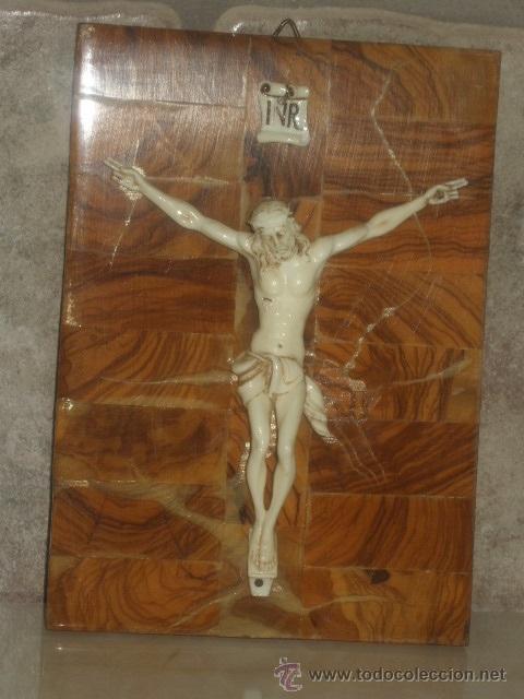 Antigüedades: ANTIGUO CUADRO CRISTO SOBRE MADERA DE RAIZ, JESUS . - Foto 2 - 45797852