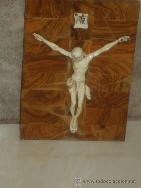 Antigüedades: ANTIGUO CUADRO CRISTO SOBRE MADERA DE RAIZ, JESUS . - Foto 3 - 45797852
