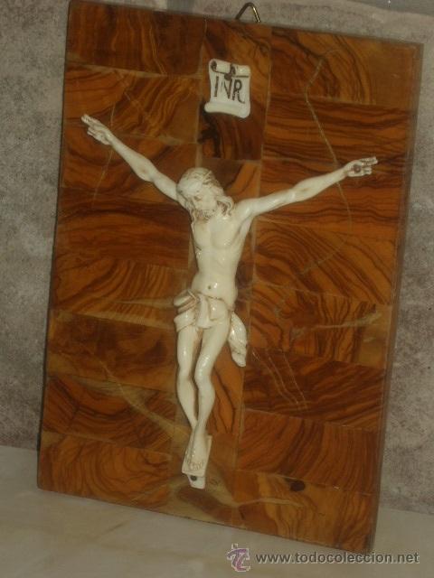 Antigüedades: ANTIGUO CUADRO CRISTO SOBRE MADERA DE RAIZ, JESUS . - Foto 5 - 45797852