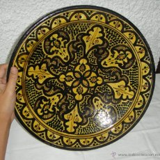 Antigüedades: PLATO DE CERAMICA. ARTESANIA. PINTADO A MANO. SELLADO: KABBOUR SAFI. Lote 45798888