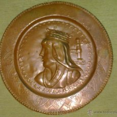 Antigüedades: VENDO PLATO DE COBRE ANTIGUO.. Lote 45819005