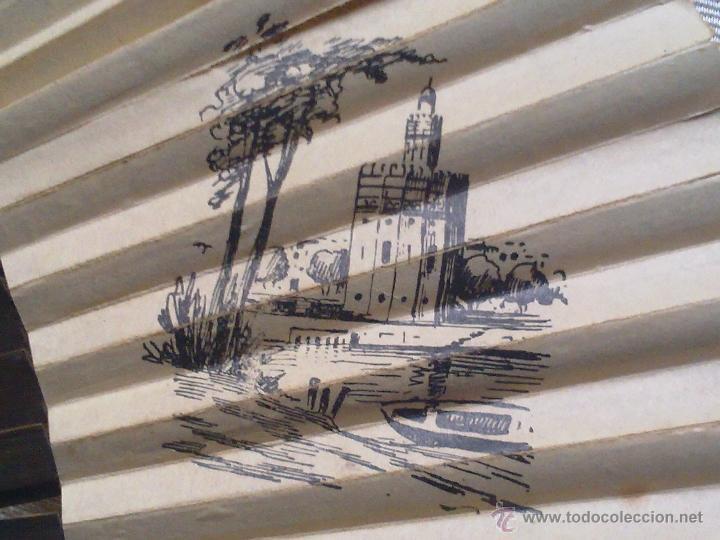 Antigüedades: Vendo Abanico Antiguo con dibujos de Imagenes de Sevilla (Principios del Siglo XX). - Foto 6 - 45831009