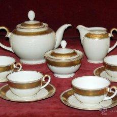 Antigüedades: COMPLETO JUEGO DE CAFÉ EN PORCELANA ALEMANA. ÉPOCA ART-DECO, HACIA 1920. SELLADA WEIMAR GERMANY.. Lote 46210468