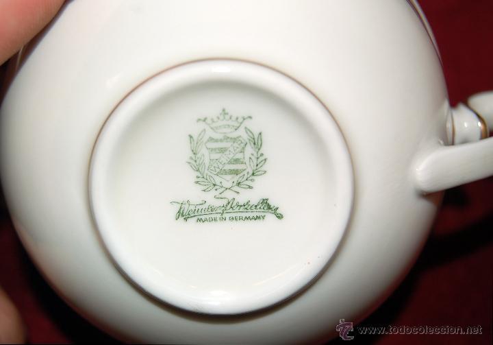 Antigüedades: COMPLETO JUEGO DE CAFÉ EN PORCELANA ALEMANA. ÉPOCA ART-DECO, HACIA 1920. SELLADA WEIMAR GERMANY. - Foto 3 - 46210468