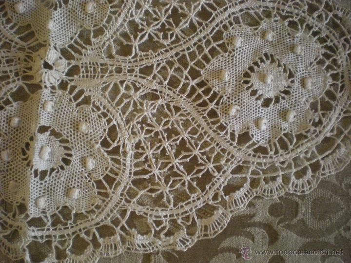 Antigüedades: tapete ovalado de encaje de Brujas - Foto 2 - 47116629