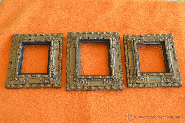 lote 3 marcos antiguos pequeños, originales, bu - Comprar Marcos ...
