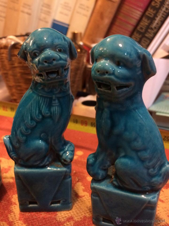 Antigüedades: 4 QUIMERAS CHINAS 13 CMS - Foto 2 - 45880387