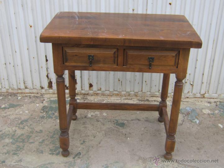 Mesa rustica de madera maciza comprar mesas antiguas en todocoleccion 45894699 - Mesa rustica madera ...