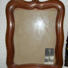 Antigüedades: ANTIGUO MARCO DE MADERA. CON CRISTAL.. Lote 45906084