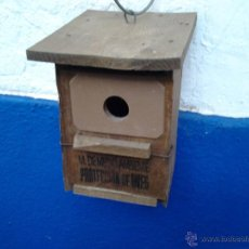 Antiquités: ANTIGUO NIDO DE ICONA PROTECCION AVES. Lote 45908882
