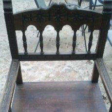 Antigüedades: PRECIOSO SILLÓN CASTELLANO . Lote 45909444