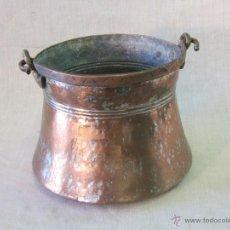 Antigüedades: OLLA - CALDERO EN COBRE. Lote 45913598