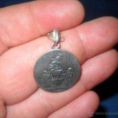Antigüedades: MEDALLA DE PLATA DEL SIGLO XVIII CON CADENA PRECIOSA Y MUY RARA.. Lote 45915824